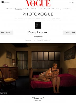 "Publication de la série ""Showroom"" du photographe Pierre Leblanc en Italie dans ""Vogue Italia""."